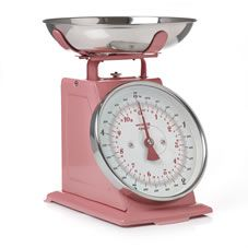 Wilko Kitchen Scales Baby Pink