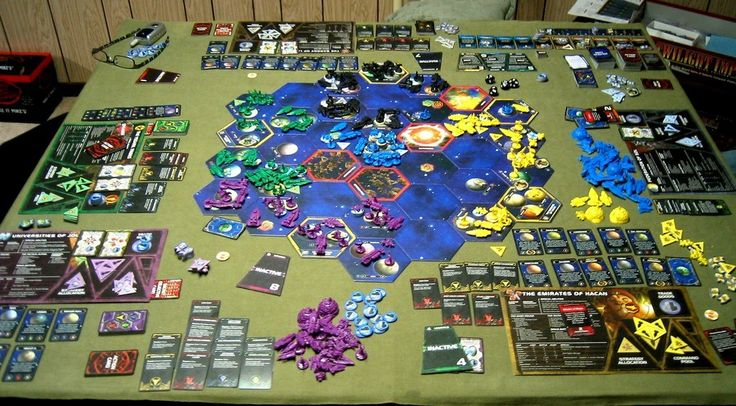 Twilight Imperium 3rd Edition. Another mind bogglingly awesome looking space civ game.