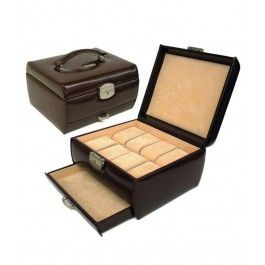 Arata-i sotului ce inseaman sa nu-si mai caute ceasurile prin toata casa cu un cadou 2 in 1 pt barbatii balanta, o cutie 8 ceasuri cu sertar, din piele
