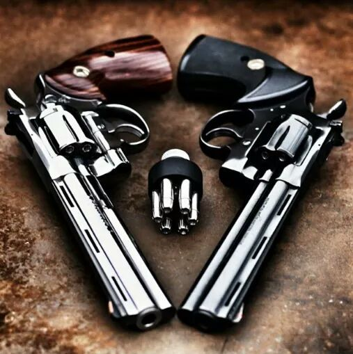 Colt Python .357 magnum - The Rolls Royce of Revolvers. Find our speedloader now! http://www.amazon.com/shops/raeind
