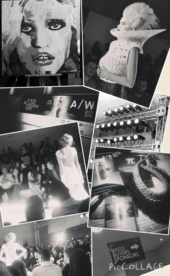 axdw, 17thaxdw, fashion show, fashion week, athens, fashion, black and white, models, runway, catwalk, collage