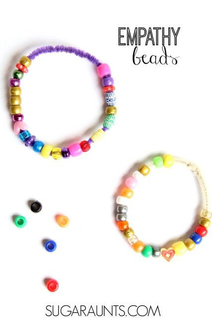 """Teach children about empathy and self-awareness with social-emotional concepts through these Empathy Beads and the book, """"Quick as a Cricket"""""""