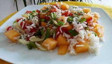 Salade minceur poulet ananas mangue
