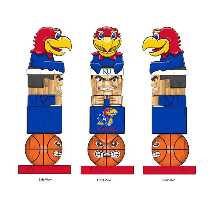 KANSAS JAYHAWKS Tiki Totem Mascot