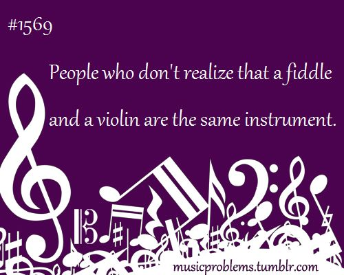 """When someone says """"that's a cool violin, where's your fiddle?"""" I just want to scream"""