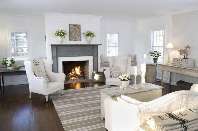 Like the grey fireplace