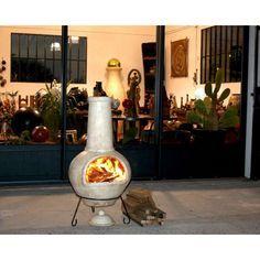 Brasero mexicain en terre cuite cheminée de jardin bbq