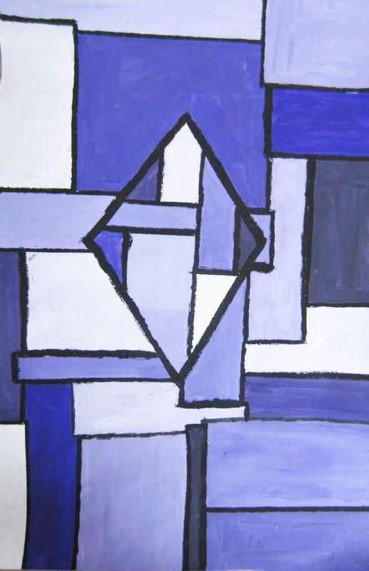 Abstract monochromatic painting | Year 7 Art Ideas | Art ...