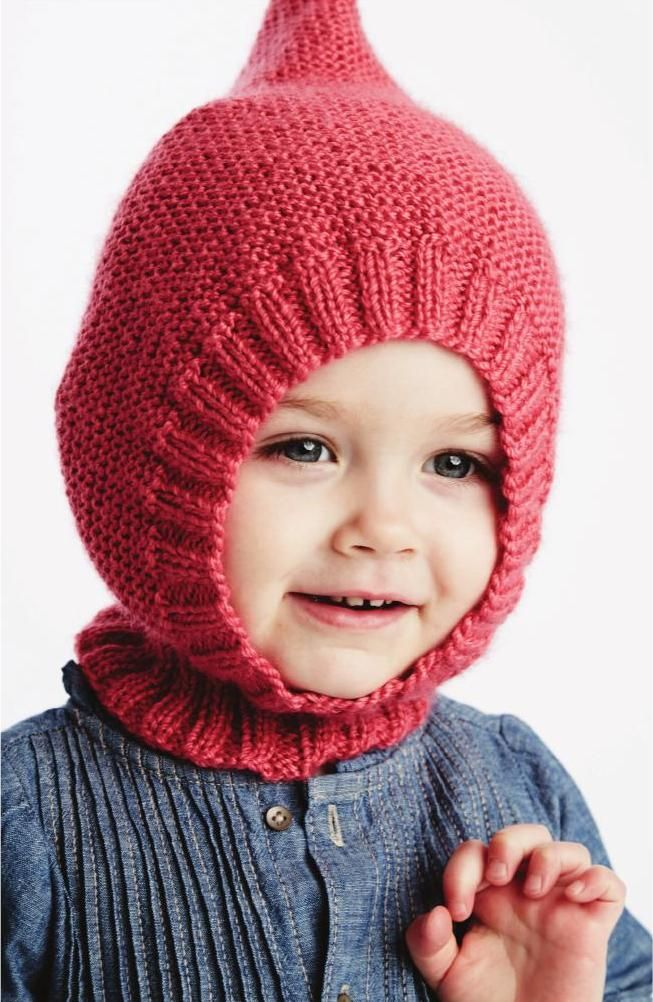 Little Gnome Hat in Bernat Softee Baby - free knitting pattern - Yarnspirations 2015 Baby Lookbook