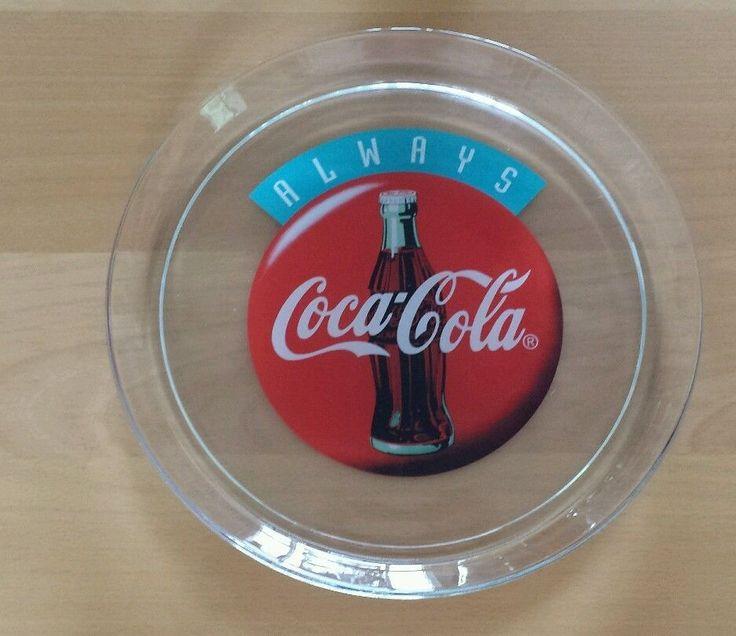 "Always COCA-COLA GLASS TRAY PLATTER 13"" | eBay"