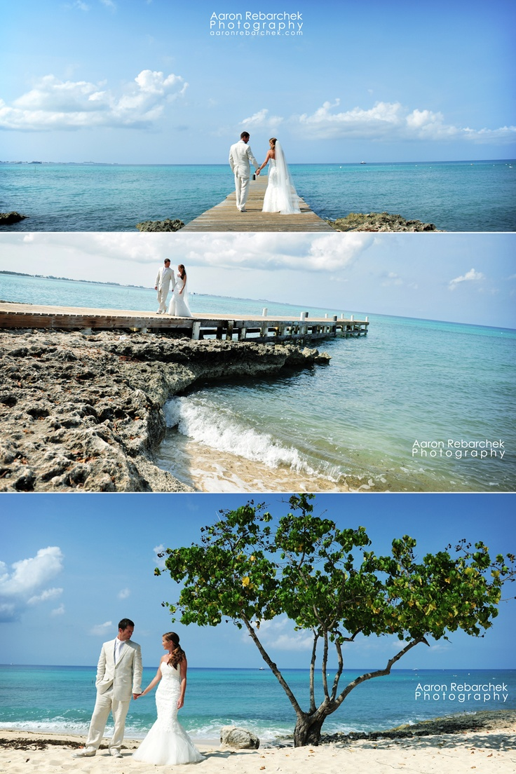 love these Grand Cayman wedding shots!