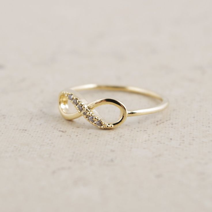Infinity Ring in Gold. $15.00, via Etsy.