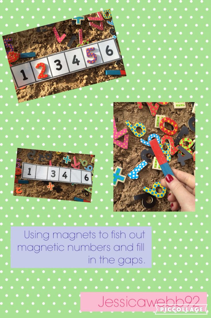 Use the magnets to attract the missing numbers and fill in the gaps. EYFS