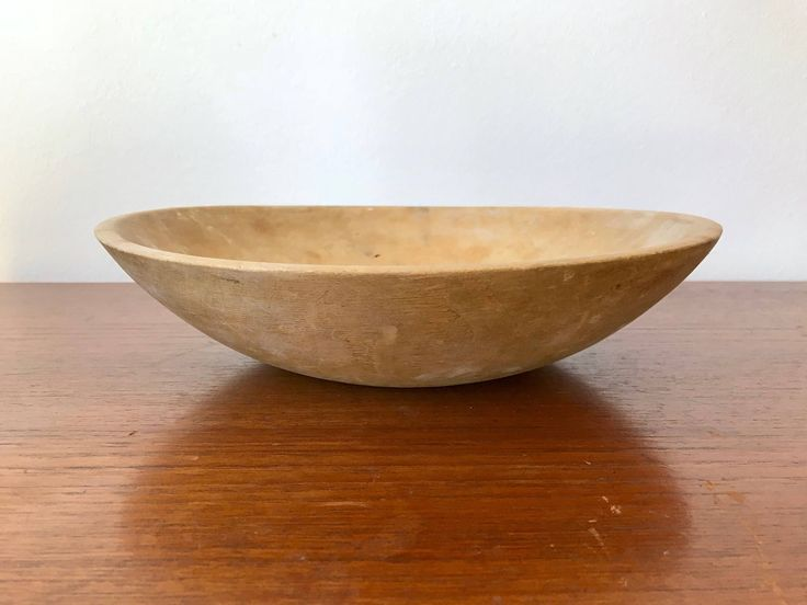 Antique Dough Bowl - Solid Wood Primitive Farmhouse Bowl - Shallow Wooden Dish - Hard Maple Catchall - Solid Wood Centerpiece Fruit Bowl by ShopRachaels on Etsy https://www.etsy.com/listing/574384893/antique-dough-bowl-solid-wood-primitive