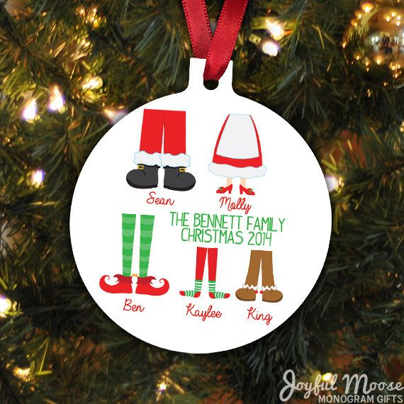 The 25+ best Personalized family christmas ornaments ideas on ...