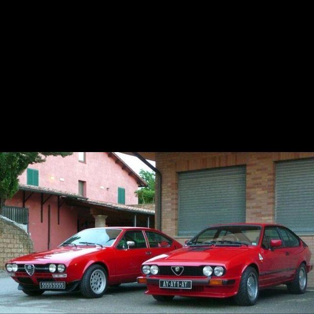 Ecco le due sorelline...alfa romeo alfetta gtv prima serie e seconda GTV's