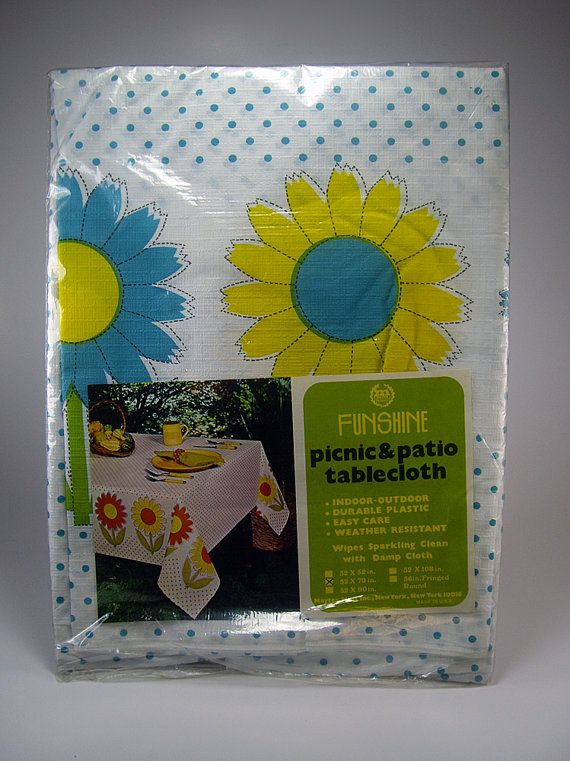 is it too early to think about picnics again vintage vinyl picnic table cover