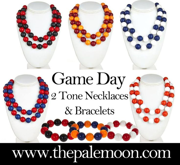 Game Day 2 Tone Necklace $28! Order now online:  http://www.thepalemoon.com/game-day-jewelry/game-day-2-layer-necklace  Game Day Team Bracelet $12! Order now online:  http://www.thepalemoon.com/game-day-jewelry/game-day-team-bracelet  Or comment sold, color and email address!  #gameday #tailgating #uga #crimsomtide #lsu #accessories #fsu #godawgs