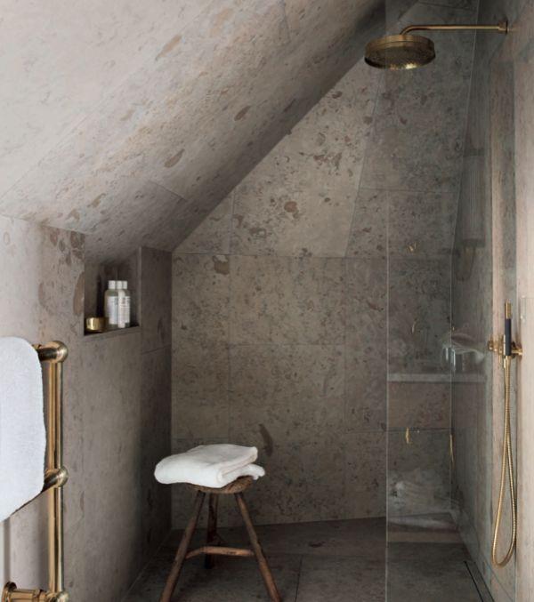 Ett Hem: Gotland Limestone & polished brassware