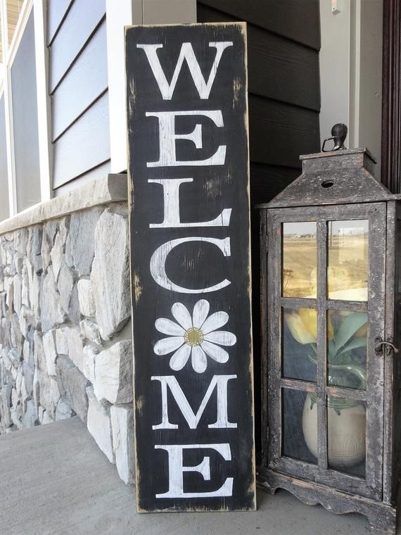 Welcome Sign Welcome Wood Sign Welcome Front Door Sign Outdoor Welcome Sign Welcome Home Decor 10x40 Welcome Sign Spring Sign Wooden Welcome Signs Welcome Signs Front Door Welcome Wood Sign