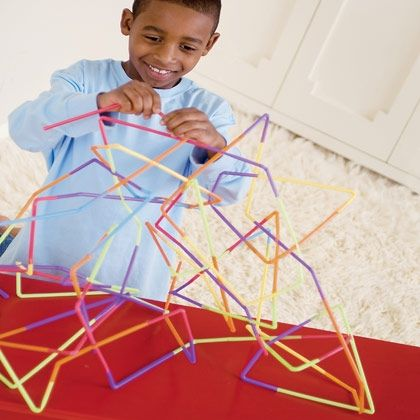 build straw structures. Rainy day activity