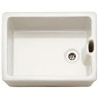Franke 130.0050.116 White Belfast BA710 Ceramic Belfast Sink with Integral Weir Overflow