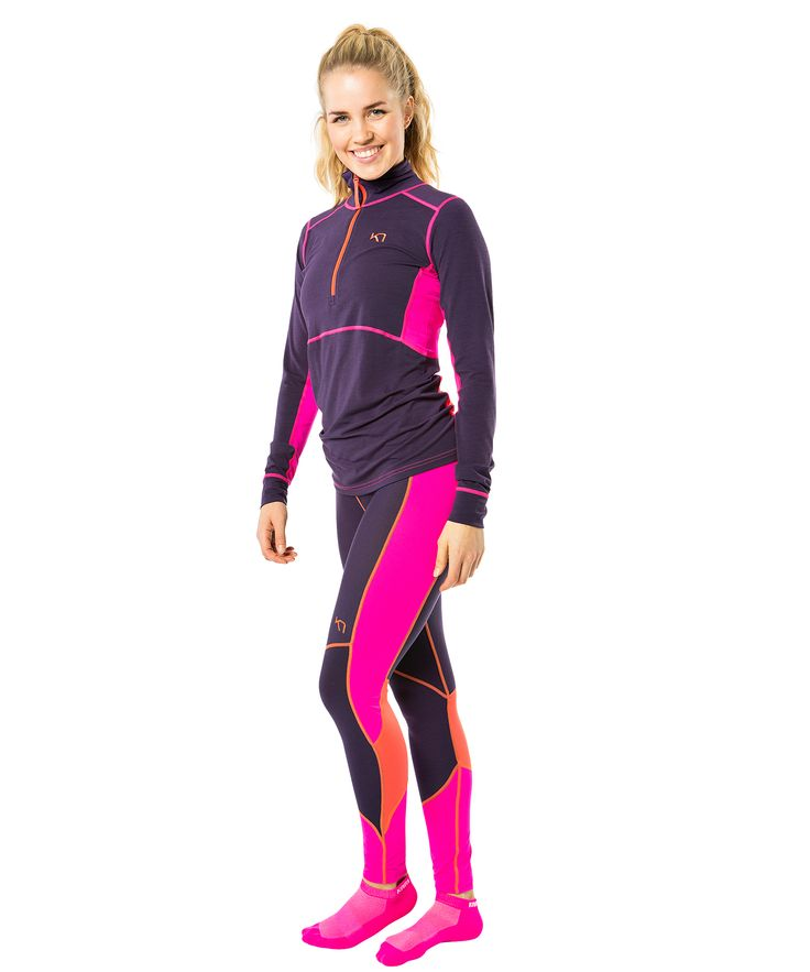 Sleek, sexy and sporty, the Kari Traa Svala H/Z is a base layer for working hard and feeling good on chilly days.