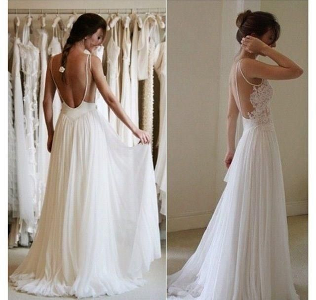 2016 New Summer Beach Wedding Dresses Cheap Sheer Straps Appliques Lace A Line Backless Floor Length Fairy Boho Bridal Gowns Customized Designer Dresses Online Dresses Online Shopping From Modeldress, $104.57| Dhgate.Com