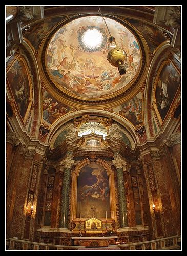 The Church of Saint Ignatius of Loyola at Campus Martius (Side Chapel)  Rome Italy