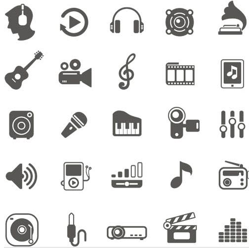 Music Icons vector graphic Icons vector free download