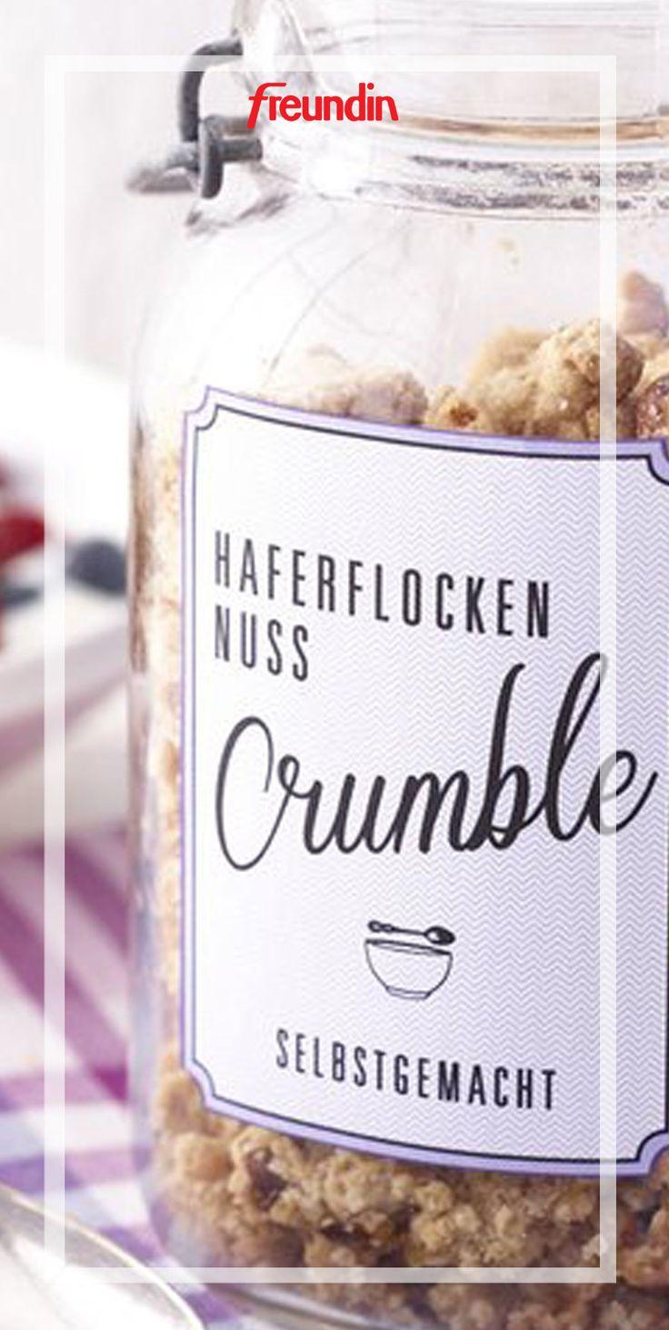 Haferflocken-Nuss-Crumble: Ein gesundes Frühstück