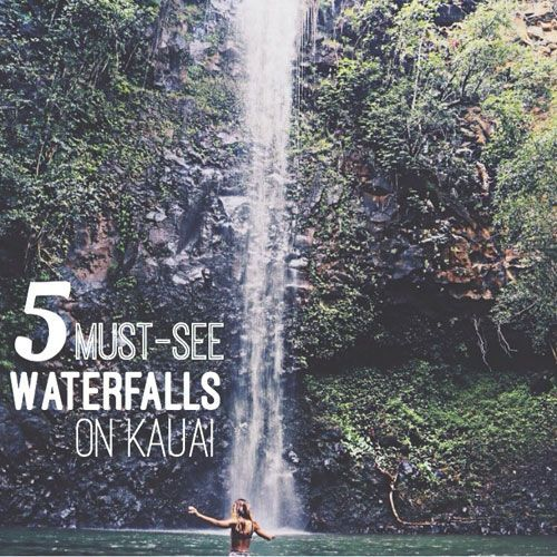 5 must-see waterfalls on Kauai.  A few favs that don't require a lot of hiking!