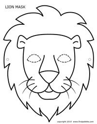 12 best free printable animal masks templates images on free printable lion mask to color and craft into a wearable paper lion mask pronofoot35fo Choice Image