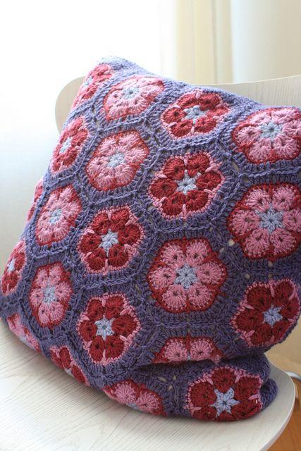 African flowers cushion