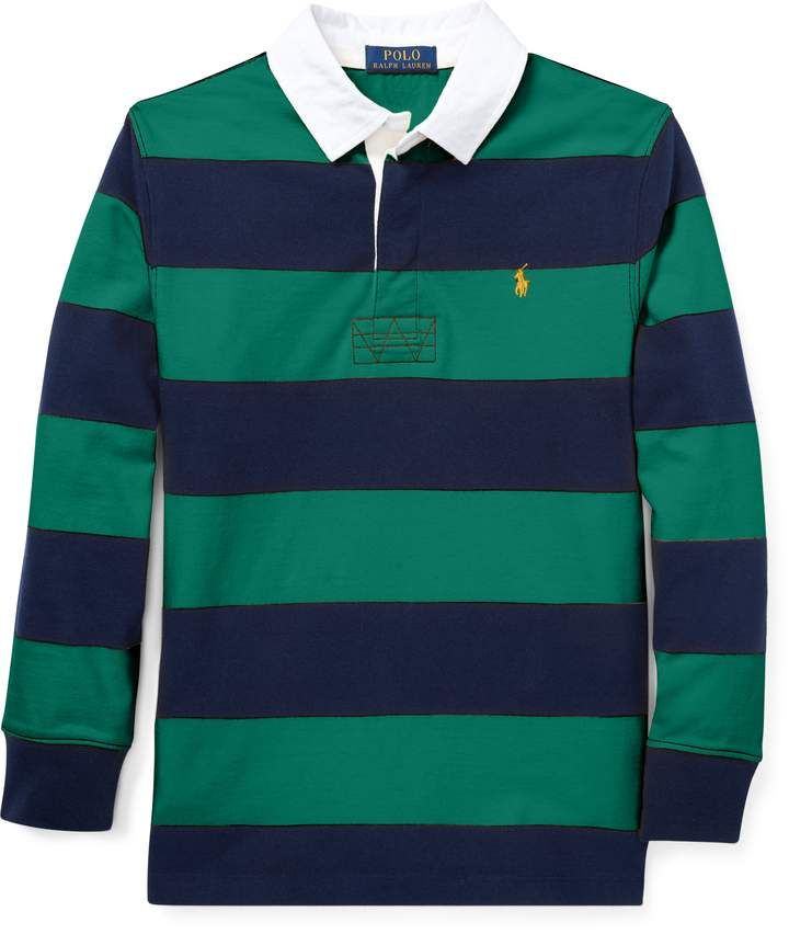 a8aeca08320 Ralph Lauren Striped Jersey Rugby Shirt