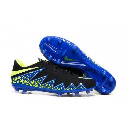 Cheap Nike Hypervenom II FG Black Blue Green,www.cheapshoesoccer.com