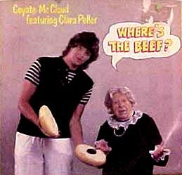 """Where's the beef A catchphrase used for a Wendy's commercial in which an elderly lady says """"Where's the beef?"""""""