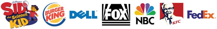 Sid The Science Kid, Burger King, Dell, FOX, NBC, KFC & FedEx