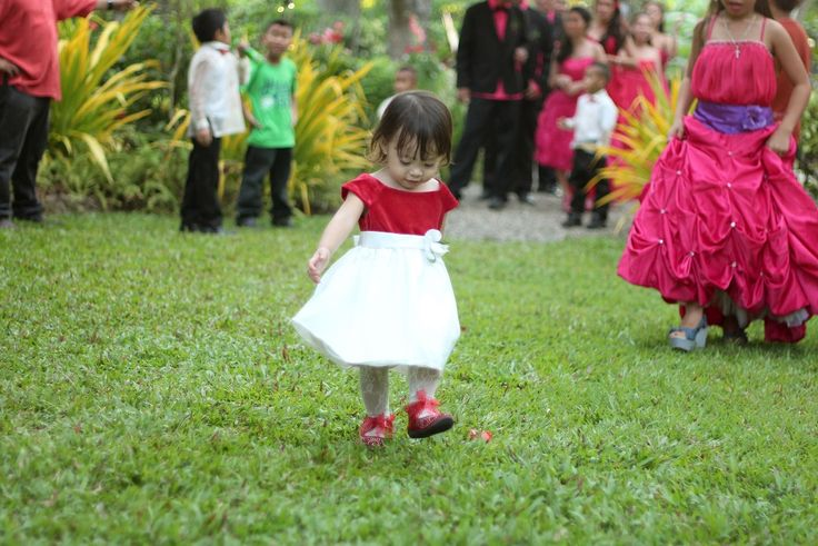 cute kid make her grand entrance to the reception #cebuwedding