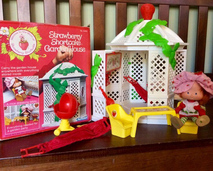 1982 Strawberry Shortcake Garden House With Doll & Original Box, Strawberry Shortcake Toys, Vintage Strawberry Shortcake Dolls, Kenner Toys by Lalecreations on Etsy