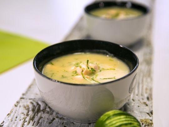 Бон Апети Картофена крем супа със сьомга