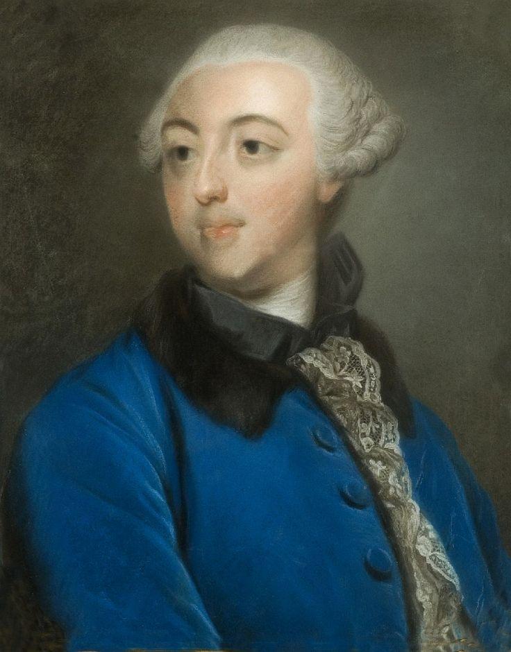 Pastel portrait of Adam Kazimierz Czartoryski by Louis Marteau, after 1760 (PD-art/old), Muzeum Pałacu Króla Jana III w Wilanowie