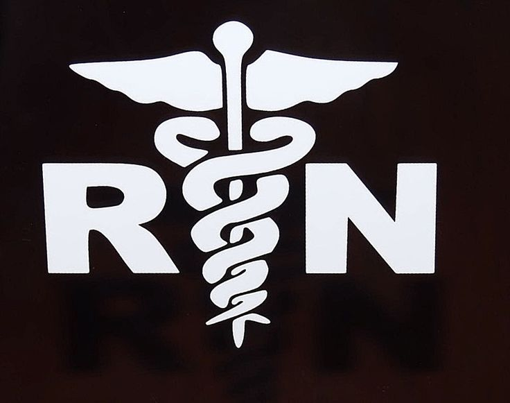Rn nurse vinyl decal car truck auto window stickers set of 2 new pick color