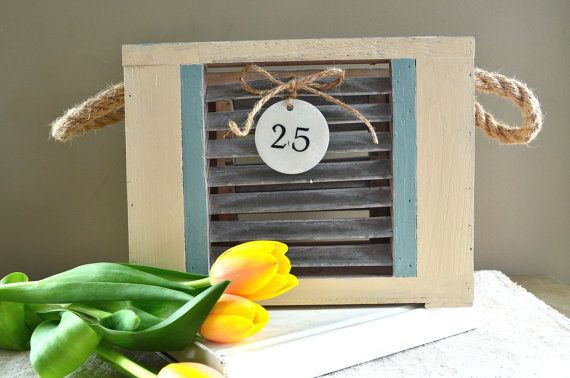 Country Look Decorative Wooden Box with Enamel by AupetitMarket, $45.00