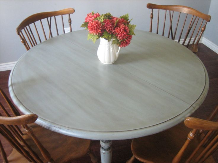 Charming Painted Refinished Kitchen Tables | European Paint Finishes Euro Refinished  Furniture Kitchen Repurpose .