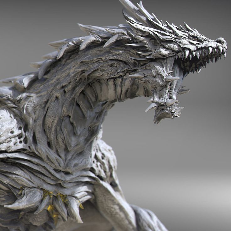 Dragon Sculpture ●by Keida Okada @ArtStation.com● [ZBrush] Digital Art