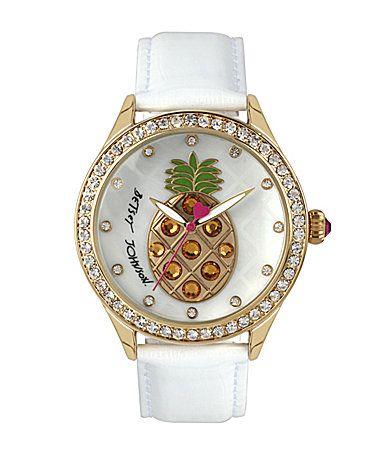 Betsey Johnson Pineapple Watch #Dillards