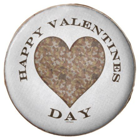 Camo Heart Happy Valentines Day RND Chocolate Covered Oreo - click/tap to personalize and buy