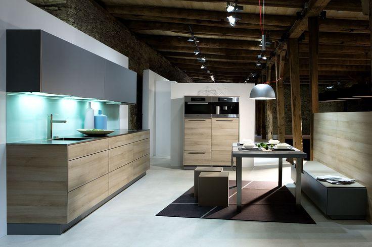 contemporary wood veneer kitchen KITCHEN WORKSHOP Warendorf