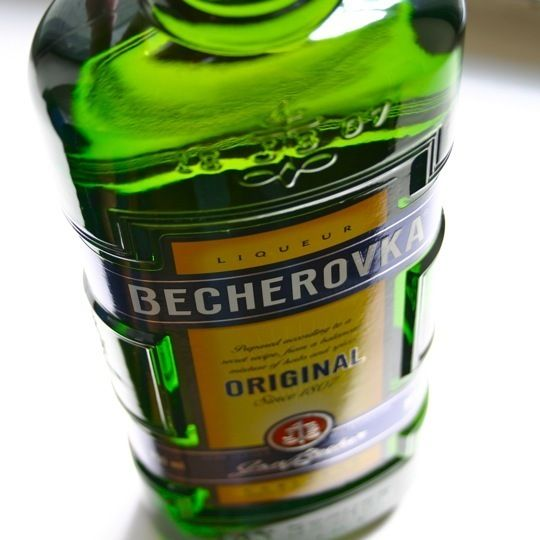 """Becherovka: Spicy, aromatic, and bittersweet, this iconic Czech liqueur makes a surprisingly flavorful addition to summer cocktails. And although it's relatively new to this part of the world, the liqueur comes with a 200-year-old pedigree. Its secret recipe, a blend of over 20 botanicals, was first formulated by a Czech apothecary and a British-born doctor way back in 1807 in a quest to create a healthful """"elixir of life."""" Recipes & Review included on website link. http://www.becherovka.cz/"""